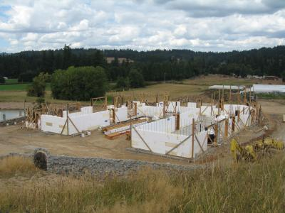 Polysteel ICF Forms During Construction